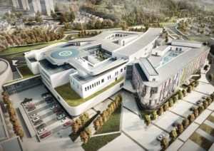 Computer generated image of the proposed new Royal Edinburgh Sick Children's Hospital