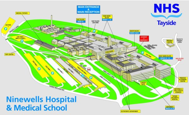 Ninewells Campus Map