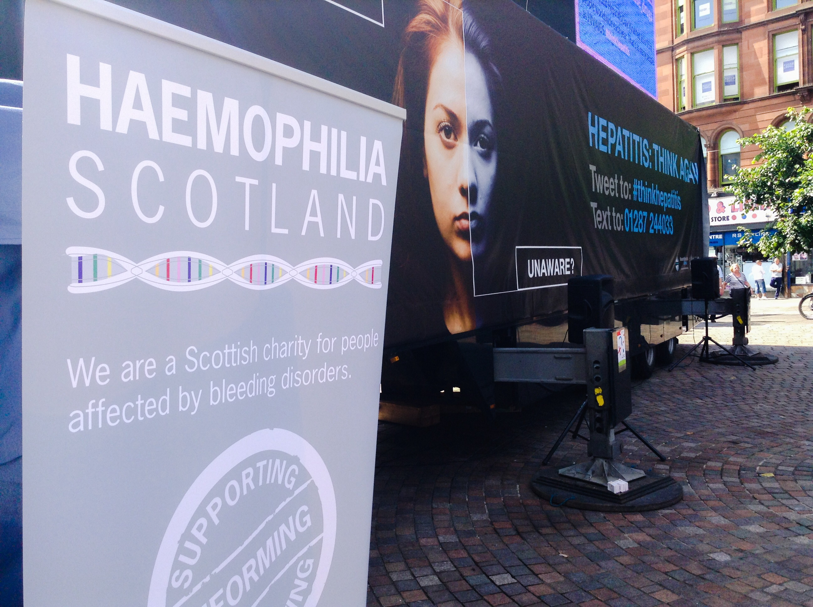 We are proud to play our small part in the World Haemophilia Day event in  Glasgow.