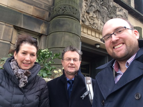 Susan, Dan and Bill after meeting with officials from the Scottish Government.