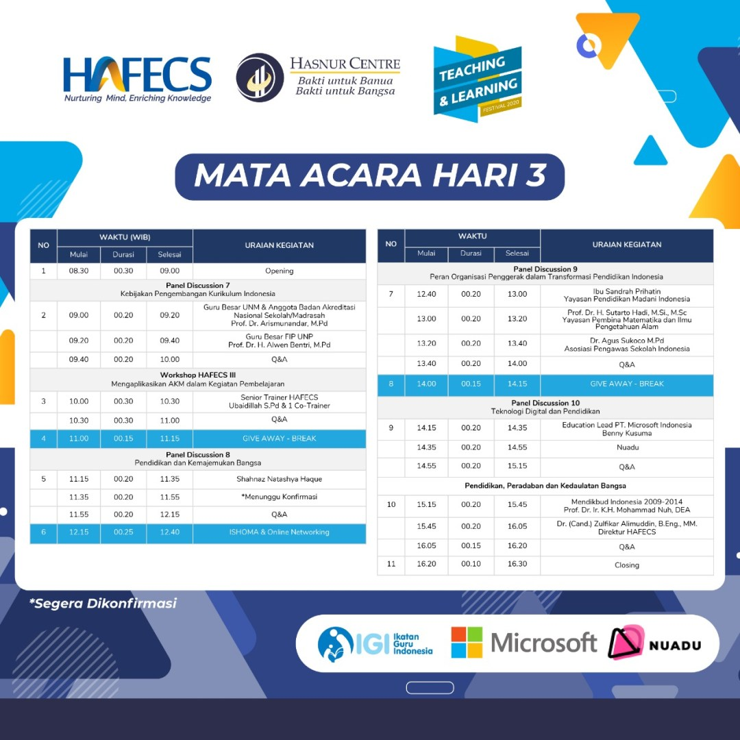 Teaching Learning Festival Hari 3