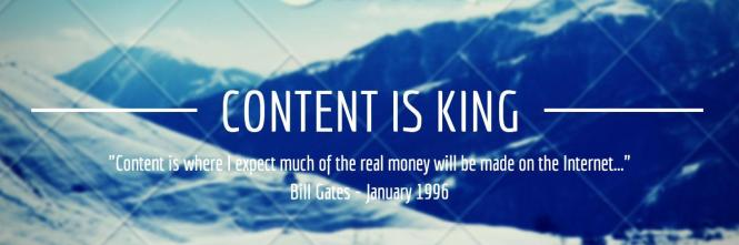 Content is King by Bill Gates