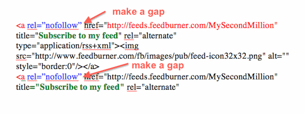 Nofollow Links Tag Structure