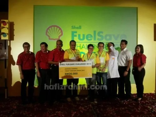 Winner Shell FuelSave Challenge 2013