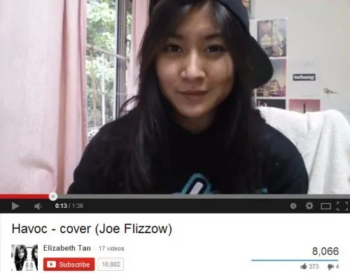 Elizabeth Tan_Havoc by Joe Flizzow_Youtube star