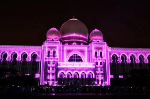 LAMPU Light Of Motion Putrajaya 2014-ungu pink