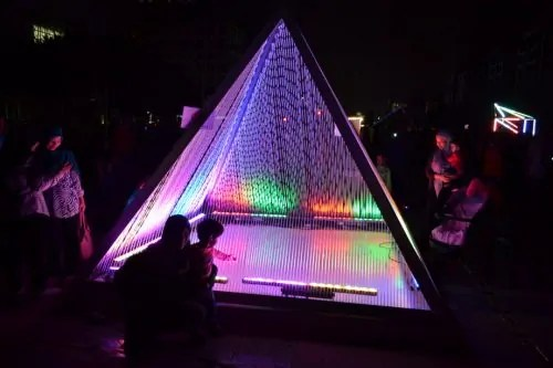 Pyramid of light