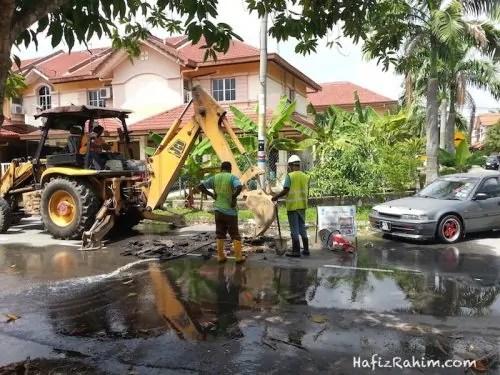 SYABAS_kontraktor repair paip bocor