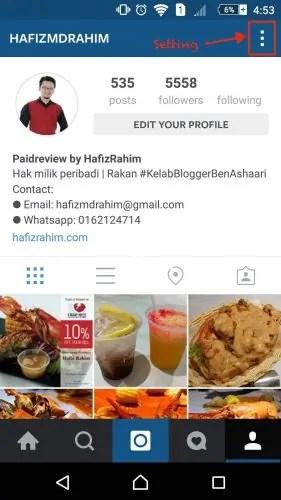 Instagram Hafiz Rahim_Top Blogger