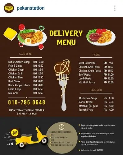 Food Delivery Pekan Station