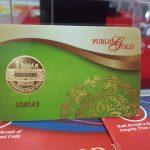 Tiga kaedah beli 1 dinar emas jenama Public Gold