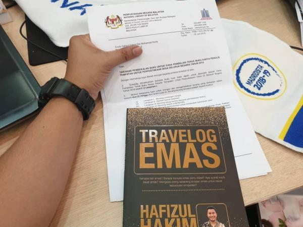 Buku Travelog Emas terima dana geran RM10,000 dari Perpustakaan Negara Malaysia 2019.