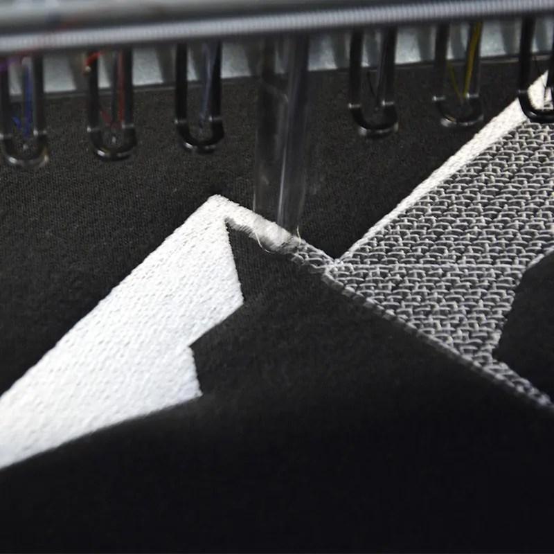 Wykonanie haftu na bluzie