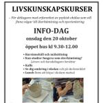 Tumnagel av affisch för livskunskapskursernas infodag