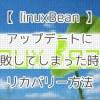 【linuxBean】アップデートに失敗してしまった時のリカバリー方法
