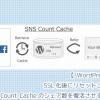 SSL化後にリセットされたSNS Count Cacheのシェア数を復活させる方法