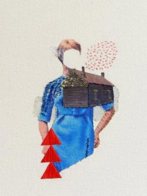 Quartet, 2011, threads on canvas
