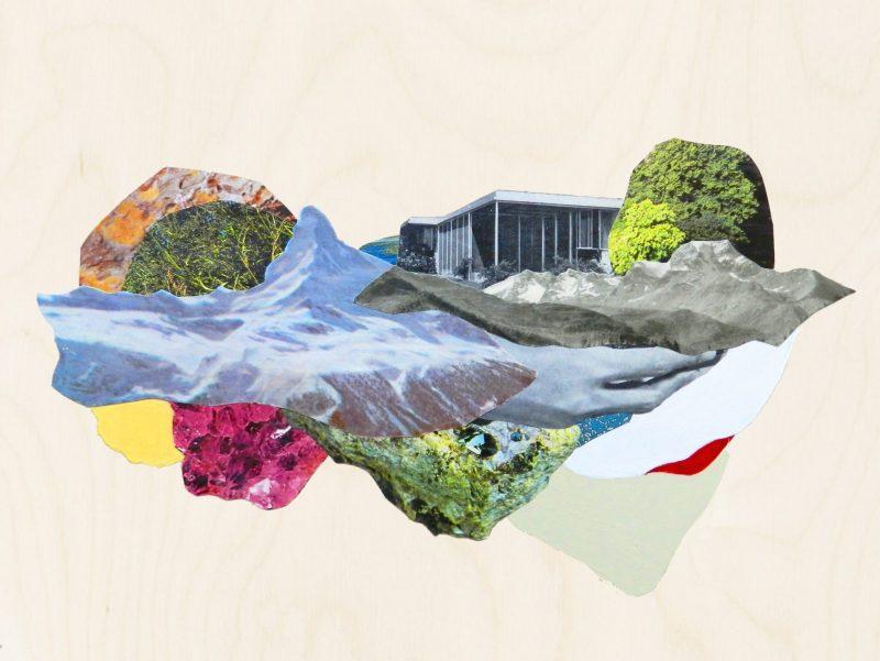 contemporary collage artists- Hagar Vardimon landscape collage Roots