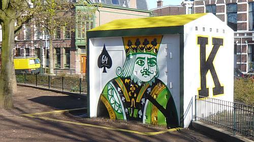 De fraaie schoppen Koningskaart van Graffiti Projects