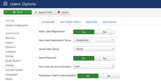 Figure 1: Notification Mail to Administrators