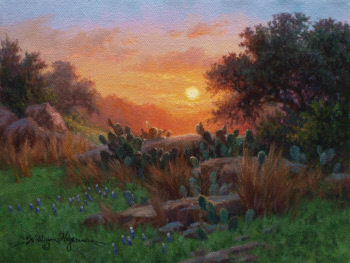 Glowing Sunrise painting by William Hagerman copyright 2013