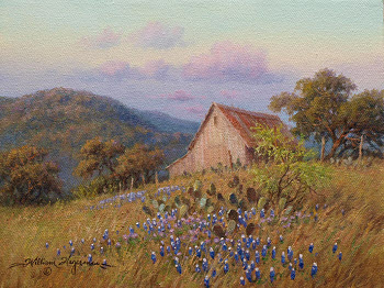 Landscape acrylic and oil painting by William Hagerman