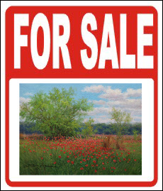 art for sale sign