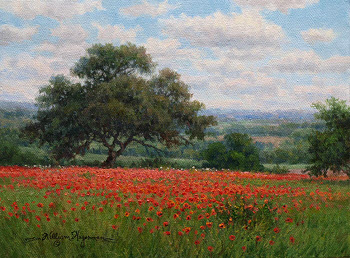 Hagerman Oil Painting_Field of Red Flowers_ copyright 2013