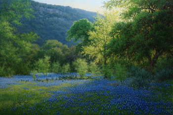 Blue Staccato by William Hagerman 24x36 oil copyright 2013