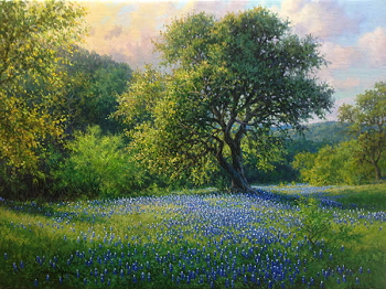 bluebonnet landscape oil painting by William Hagerman