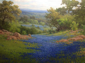 how to paint bluebonnets