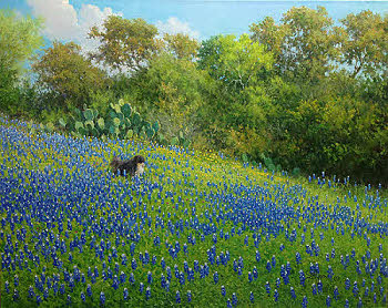 """Commissioned oil painting by William """"Byron"""" Hagerman"""