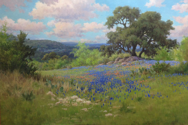 bluebonnet oil painting demo