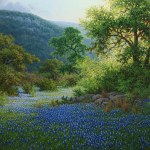 Bluebonnet landscape oil painting by William Hagerman