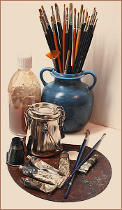 image of art supplies learn how to oil paint