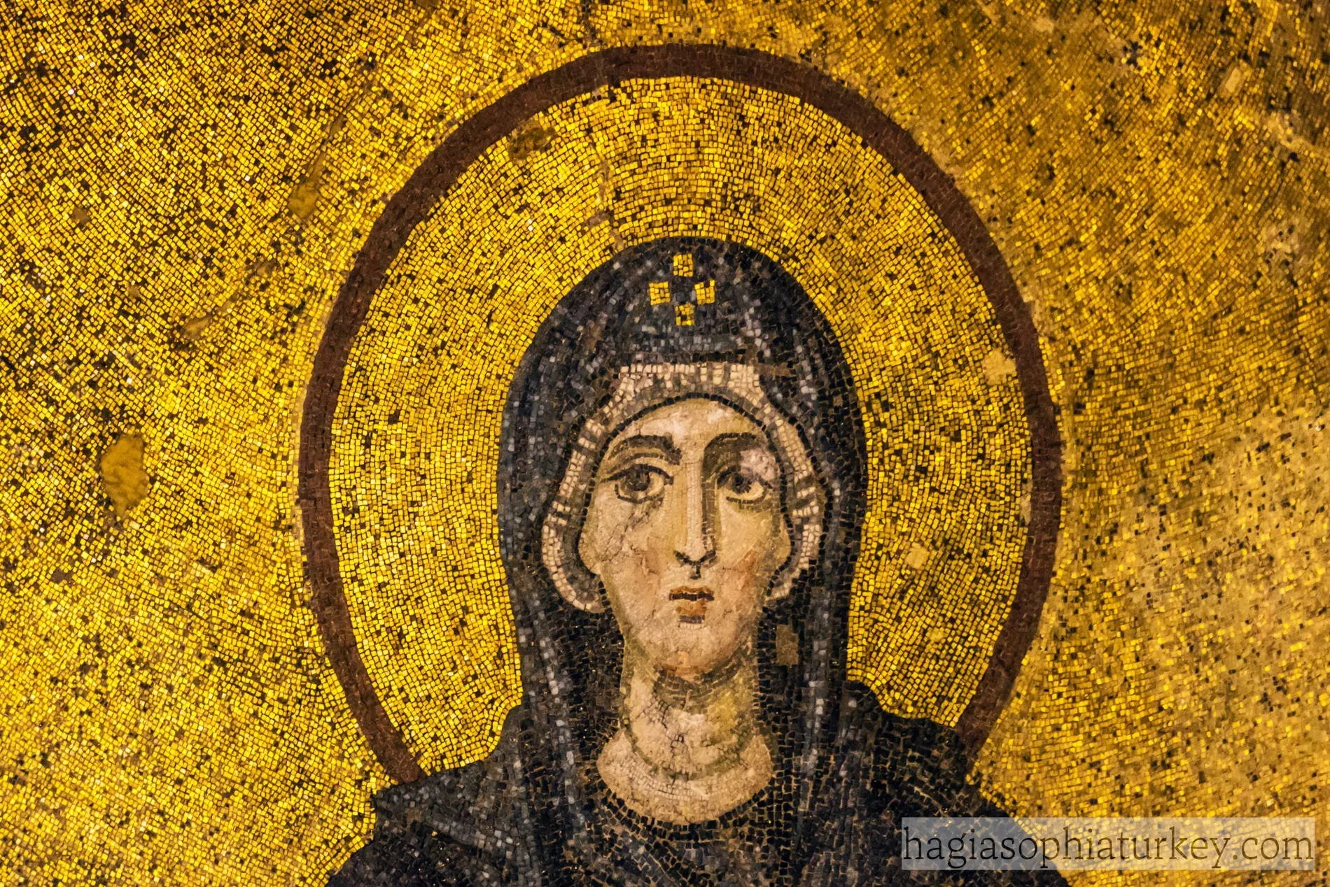 The Virgin And Child Mosaic Hagia Sophia