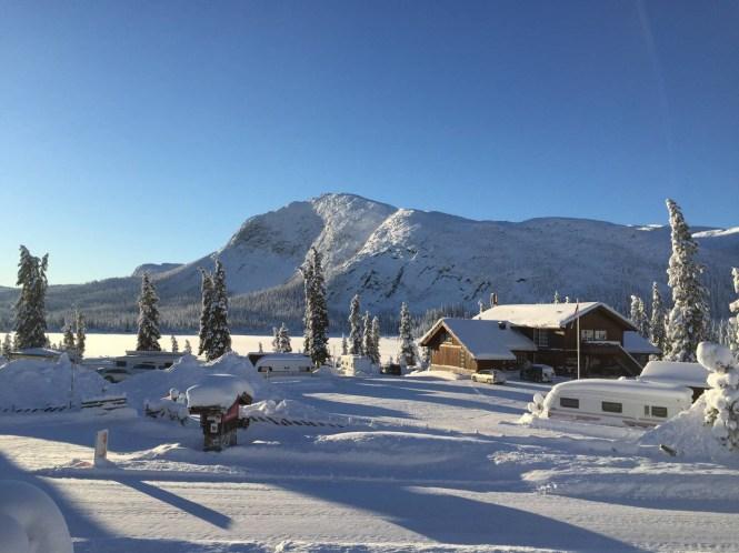Foto av turistheimen på Haglebu