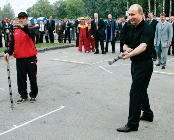 Russia - President Vladimir Putin - Gorodki Game