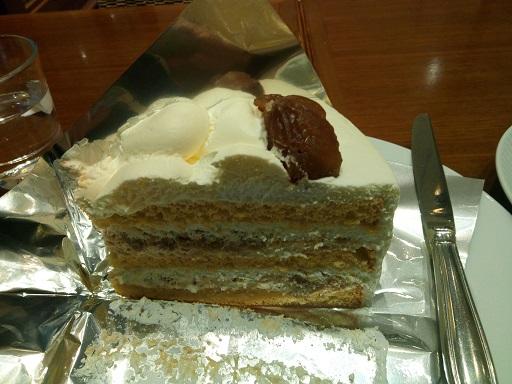 マロングラッセのケーキ