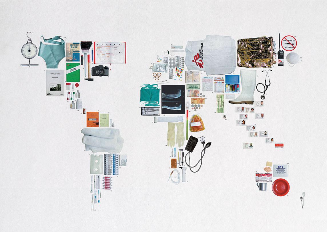 Schlüsselmotiv für Médicos Sin Fronteras (Ärzte ohne Grenzen)