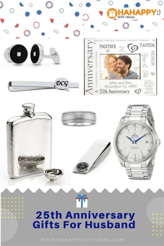 25th Silver Wedding Anniversary Gifts For Husband