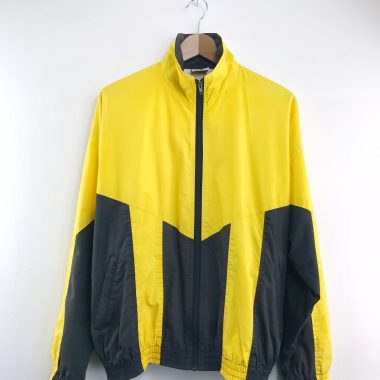 AMERICAN EAGLE Vintage Jacke gelb schwarz