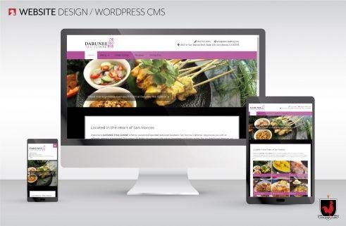Website Design for Darunee Thai Cuisine, San Marcos, CA   Hahn Design Studio
