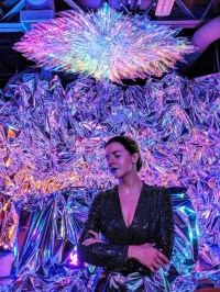"Artist Haiiileen with her installation ""Ora"""