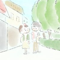 挿絵 散歩のイラスト