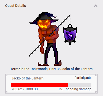 Jacko of the Lantern Quest Art and Health Bar