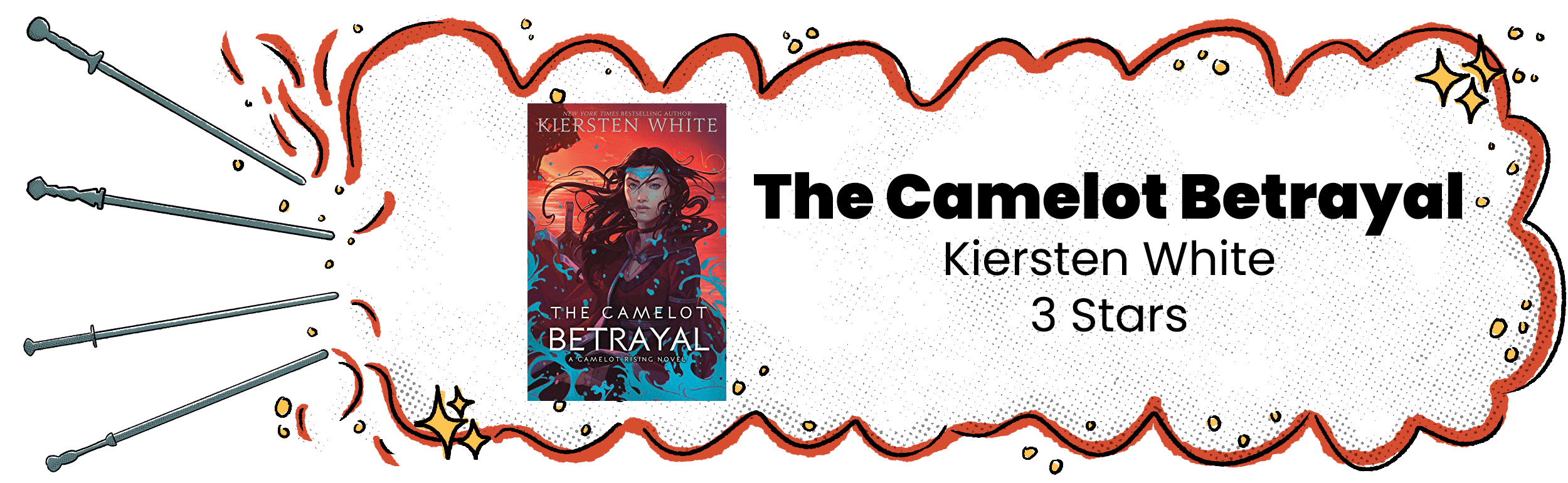 The Camelot Betrayal Review Banner With 3 Star Rating