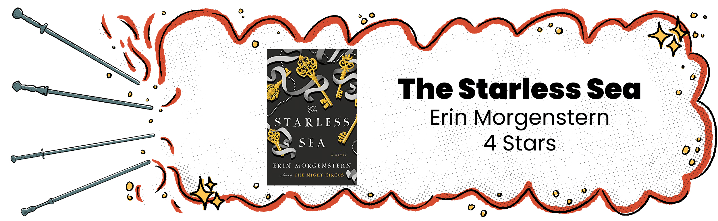 The Starless Sea Review Banner with 4 Star Rating