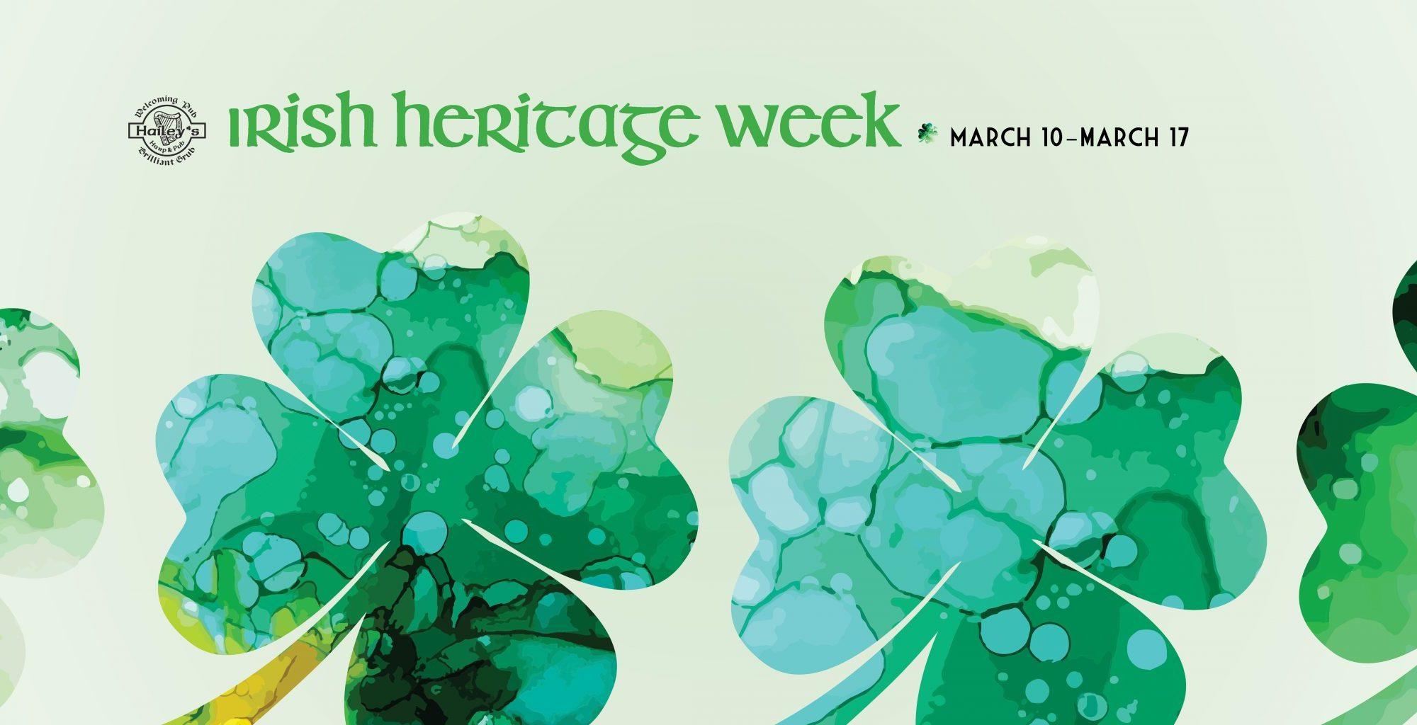 Irish Heritage Week at Hailey's Harp and Pub 2021