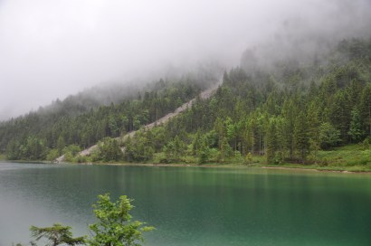 Mountain side lake